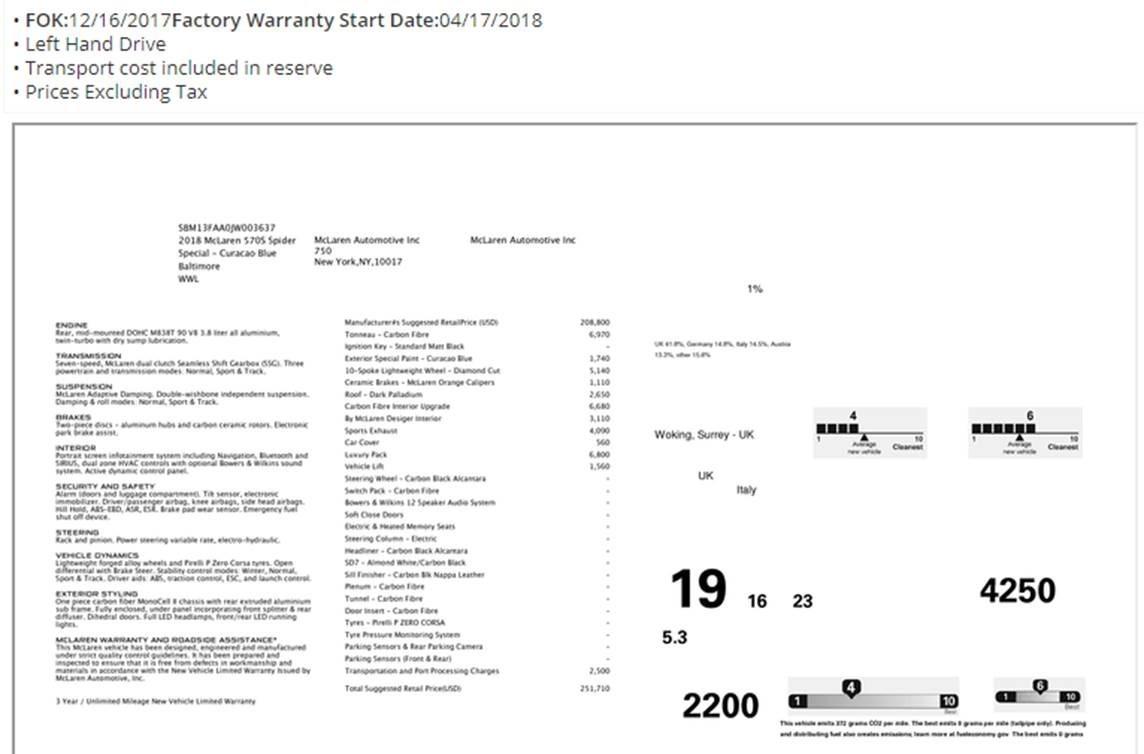 Used 2018 McLaren 570S Spider   Greenwich, CT