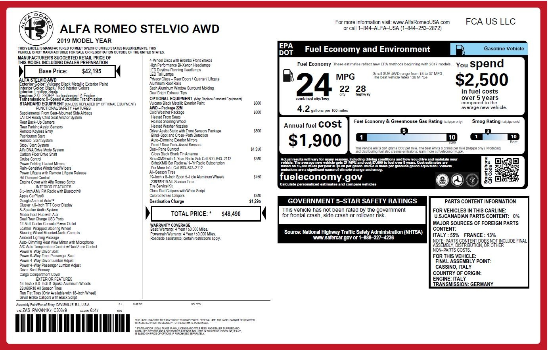 New 2019 Alfa Romeo Stelvio  | Greenwich, CT
