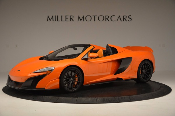 Used 2016 McLaren 675LT Spider Convertible for sale Sold at Pagani of Greenwich in Greenwich CT 06830 1