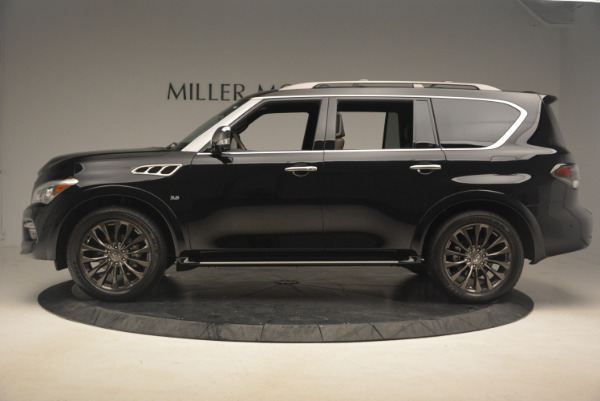 Used 2015 INFINITI QX80 Limited 4WD for sale Sold at Pagani of Greenwich in Greenwich CT 06830 3