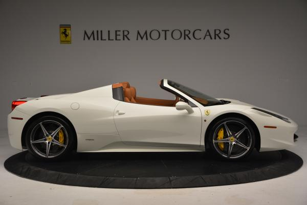 Used 2012 Ferrari 458 Spider for sale Sold at Pagani of Greenwich in Greenwich CT 06830 9