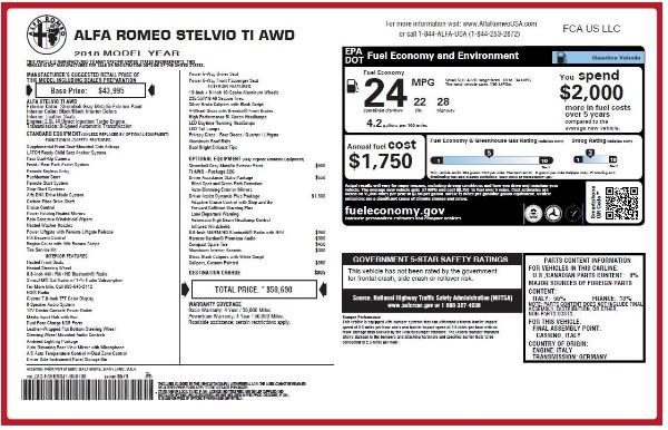New 2018 Alfa Romeo Stelvio Ti Q4 for sale Sold at Pagani of Greenwich in Greenwich CT 06830 27
