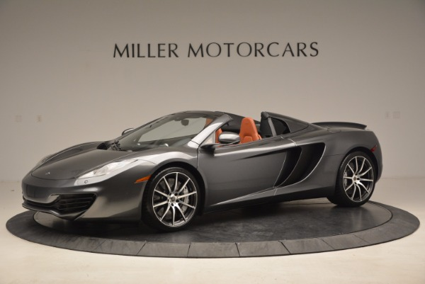 Used 2014 McLaren MP4-12C SPIDER Convertible for sale Sold at Pagani of Greenwich in Greenwich CT 06830 1