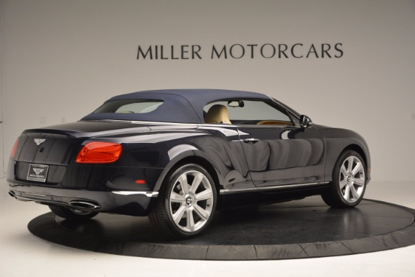 Used 2012 Bentley Continental GTC for sale Sold at Pagani of Greenwich in Greenwich CT 06830 21