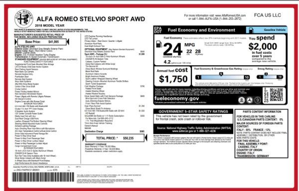 New 2018 Alfa Romeo Stelvio Sport Q4 for sale Sold at Pagani of Greenwich in Greenwich CT 06830 26
