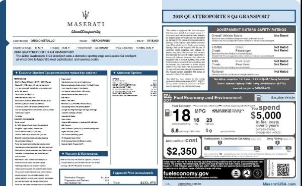 Used 2018 Maserati Quattroporte S Q4 Gransport for sale $66,900 at Pagani of Greenwich in Greenwich CT 06830 26