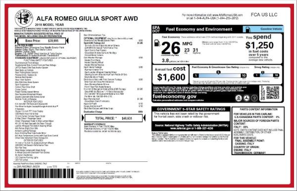 New 2018 Alfa Romeo Giulia Ti Sport Q4 for sale Sold at Pagani of Greenwich in Greenwich CT 06830 26