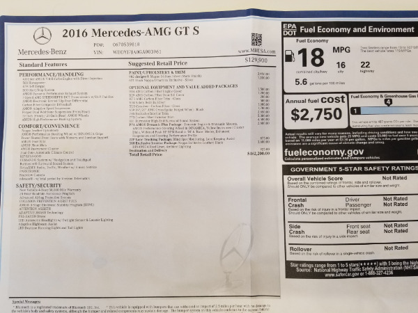 Used 2016 Mercedes-Benz AMG GT S for sale Sold at Pagani of Greenwich in Greenwich CT 06830 25