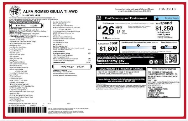 New 2018 Alfa Romeo Giulia Ti Q4 for sale Sold at Pagani of Greenwich in Greenwich CT 06830 26