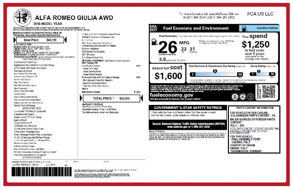 New 2018 Alfa Romeo Giulia Q4 for sale Sold at Pagani of Greenwich in Greenwich CT 06830 26
