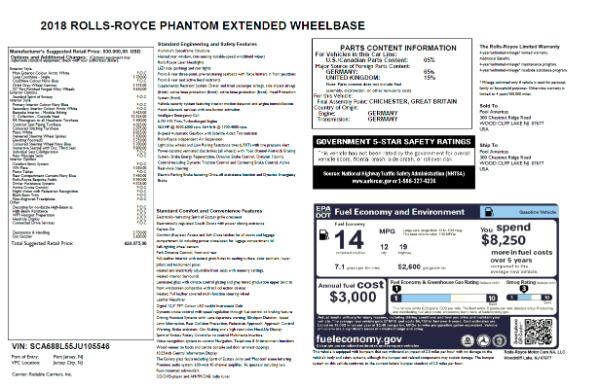 New 2018 Rolls-Royce Phantom EWB for sale Sold at Pagani of Greenwich in Greenwich CT 06830 7