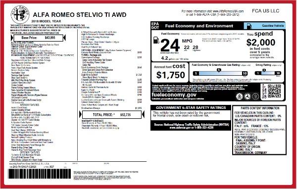 New 2018 Alfa Romeo Stelvio Ti Q4 for sale Sold at Pagani of Greenwich in Greenwich CT 06830 2