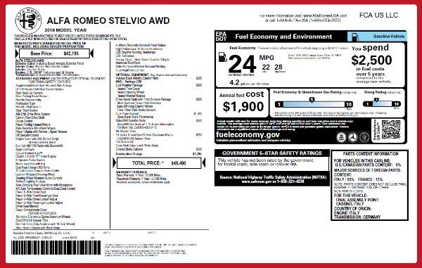 New 2019 Alfa Romeo Stelvio Q4 for sale Sold at Pagani of Greenwich in Greenwich CT 06830 26