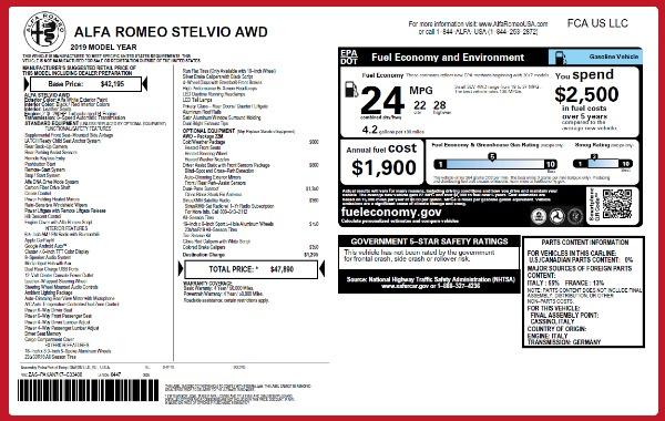New 2019 Alfa Romeo Stelvio Q4 for sale Sold at Pagani of Greenwich in Greenwich CT 06830 21