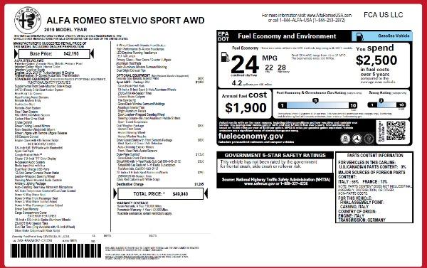 Used 2019 Alfa Romeo Stelvio Sport Q4 for sale $49,940 at Pagani of Greenwich in Greenwich CT 06830 15