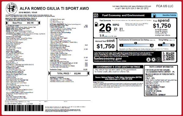 New 2019 Alfa Romeo Giulia Ti Sport Q4 for sale Sold at Pagani of Greenwich in Greenwich CT 06830 26