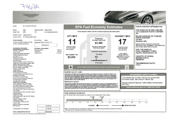 Used 2009 Aston Martin DBS Coupe for sale Sold at Pagani of Greenwich in Greenwich CT 06830 26