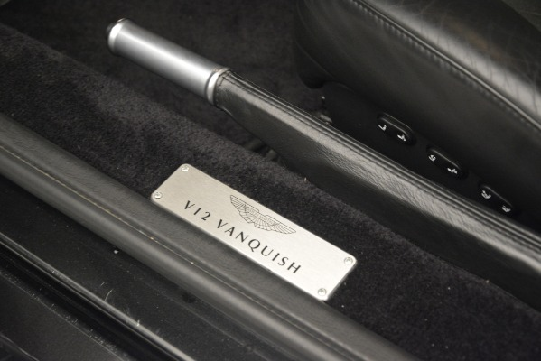 Used 2004 Aston Martin V12 Vanquish for sale Sold at Pagani of Greenwich in Greenwich CT 06830 19
