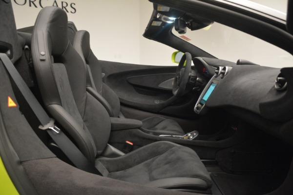 New 2020 McLaren 600LT SPIDER Convertible for sale $281,570 at Pagani of Greenwich in Greenwich CT 06830 28