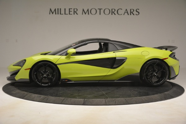 New 2020 McLaren 600LT SPIDER Convertible for sale $281,570 at Pagani of Greenwich in Greenwich CT 06830 3