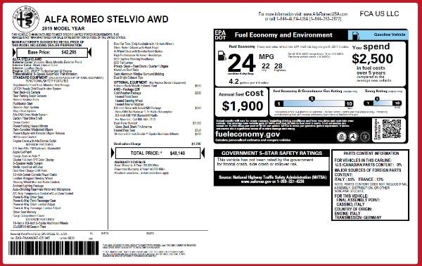 New 2019 Alfa Romeo Stelvio Q4 for sale Sold at Pagani of Greenwich in Greenwich CT 06830 2