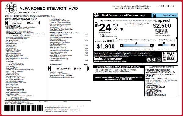 New 2019 Alfa Romeo Stelvio Ti Q4 for sale Sold at Pagani of Greenwich in Greenwich CT 06830 2