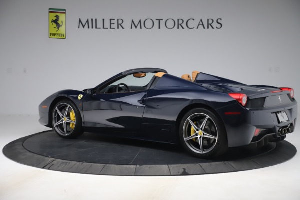 Used 2012 Ferrari 458 Spider for sale Sold at Pagani of Greenwich in Greenwich CT 06830 4