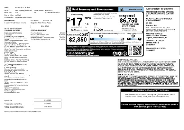 New 2020 Aston Martin DBS Superleggera for sale $328,786 at Pagani of Greenwich in Greenwich CT 06830 23