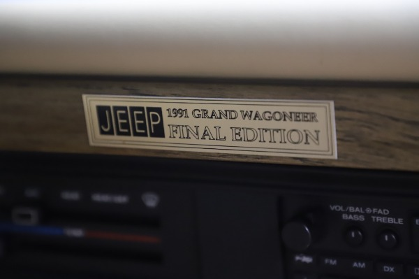 Used 1991 Jeep Grand Wagoneer for sale Call for price at Pagani of Greenwich in Greenwich CT 06830 24