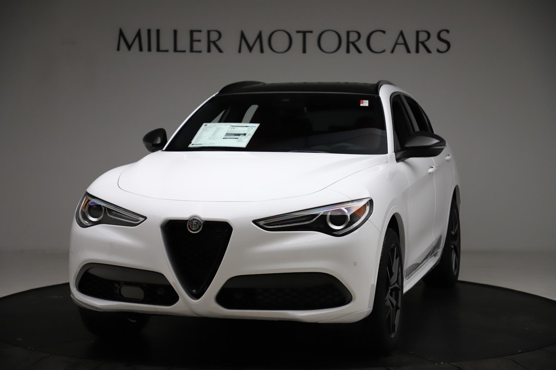 New 2021 Alfa Romeo Stelvio Ti Sport Q4 for sale $55,490 at Pagani of Greenwich in Greenwich CT 06830 1