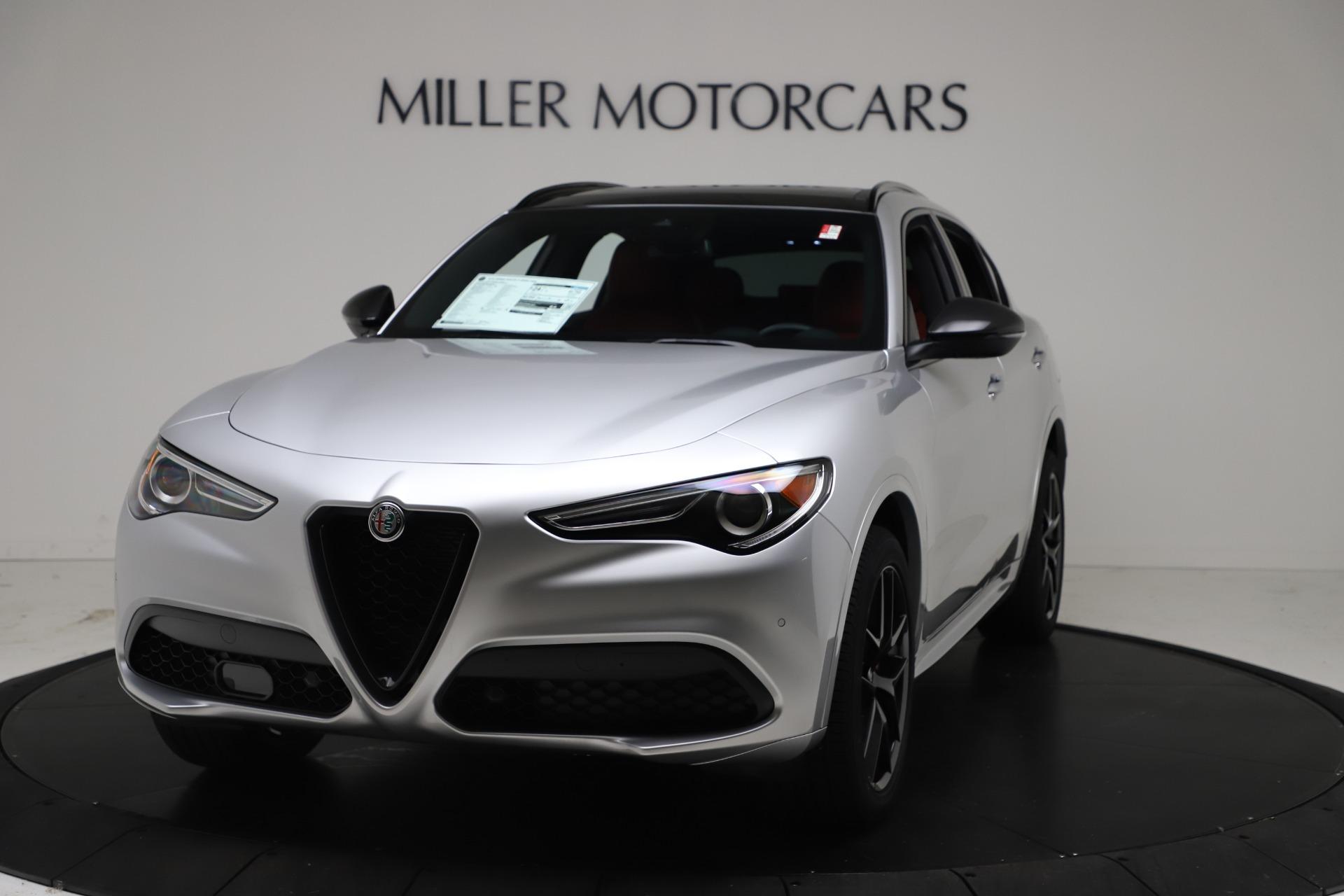 New 2021 Alfa Romeo Stelvio Ti Sport Q4 for sale $56,090 at Pagani of Greenwich in Greenwich CT 06830 1