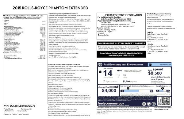 Used 2015 Rolls-Royce Phantom EWB for sale $299,900 at Pagani of Greenwich in Greenwich CT 06830 26