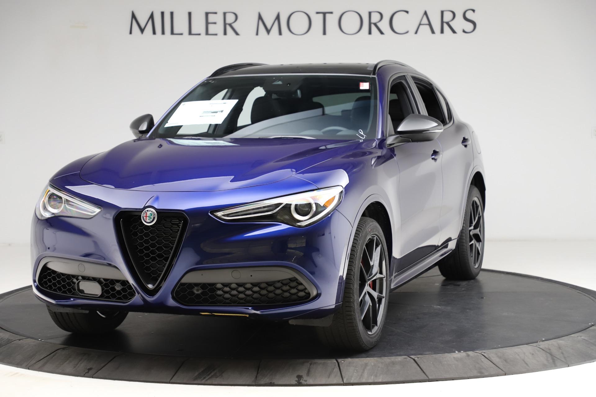 New 2021 Alfa Romeo Stelvio Ti Sport Q4 for sale $56,750 at Pagani of Greenwich in Greenwich CT 06830 1