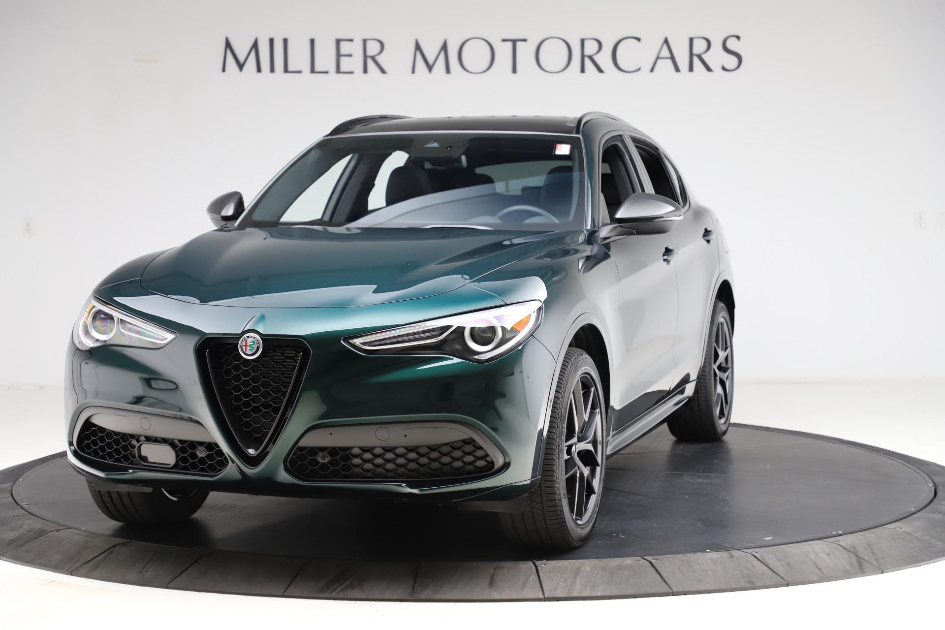 New 2021 Alfa Romeo Stelvio Ti Sport Q4 for sale $56,450 at Pagani of Greenwich in Greenwich CT 06830 1