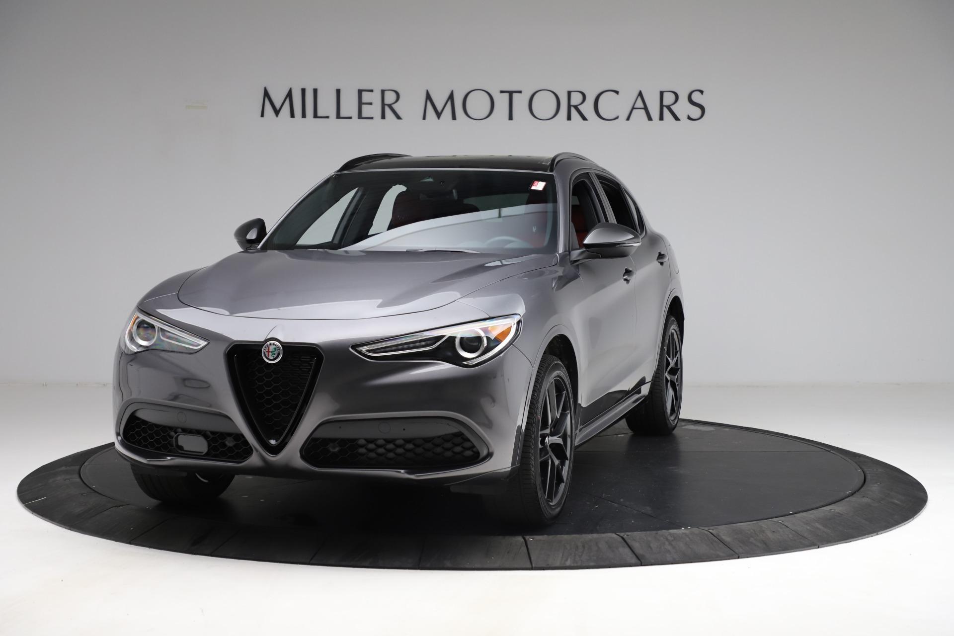 New 2021 Alfa Romeo Stelvio Ti Sport Q4 for sale $55,950 at Pagani of Greenwich in Greenwich CT 06830 1