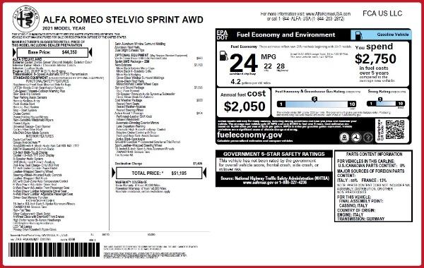 New 2021 Alfa Romeo Stelvio Q4 for sale $50,595 at Pagani of Greenwich in Greenwich CT 06830 2