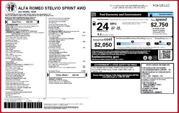 New 2021 Alfa Romeo Stelvio Q4 for sale $50,145 at Pagani of Greenwich in Greenwich CT 06830 2