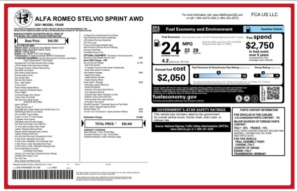 New 2021 Alfa Romeo Stelvio Q4 for sale $49,845 at Pagani of Greenwich in Greenwich CT 06830 2