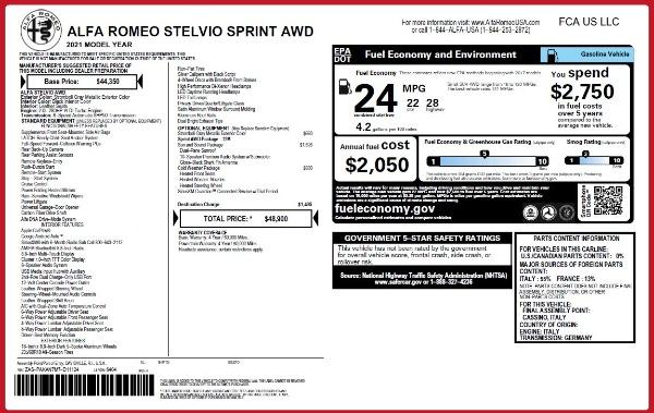 New 2021 Alfa Romeo Stelvio Q4 for sale $48,300 at Pagani of Greenwich in Greenwich CT 06830 2