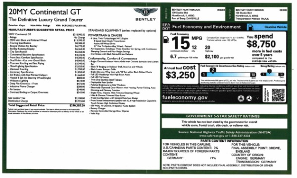 New 2020 Bentley Continental GT W12 for sale $290,305 at Pagani of Greenwich in Greenwich CT 06830 28