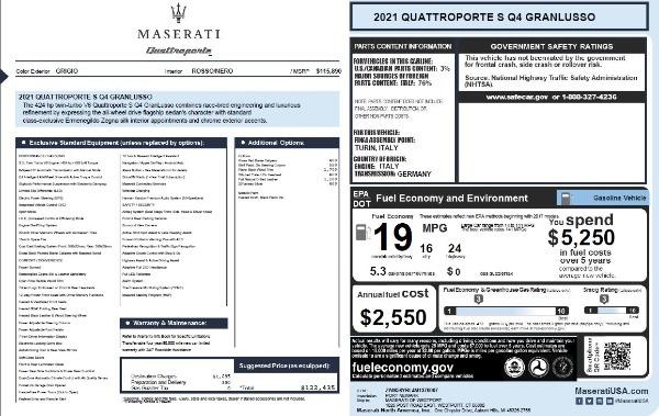 New 2021 Maserati Quattroporte S Q4 GranLusso for sale $122,435 at Pagani of Greenwich in Greenwich CT 06830 27