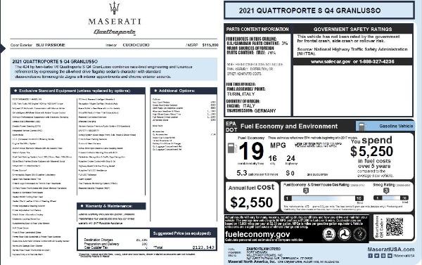 New 2021 Maserati Quattroporte S Q4 GranLusso for sale $123,549 at Pagani of Greenwich in Greenwich CT 06830 25