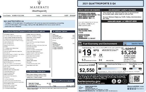 New 2021 Maserati Quattroporte S Q4 for sale $114,149 at Pagani of Greenwich in Greenwich CT 06830 26