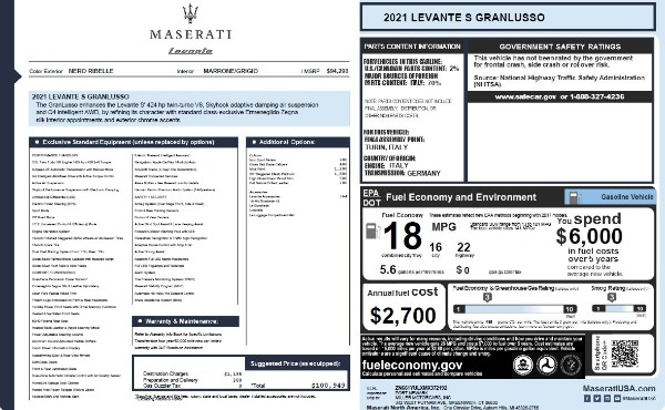 New 2021 Maserati Levante S Q4 GranLusso for sale $100,949 at Pagani of Greenwich in Greenwich CT 06830 26