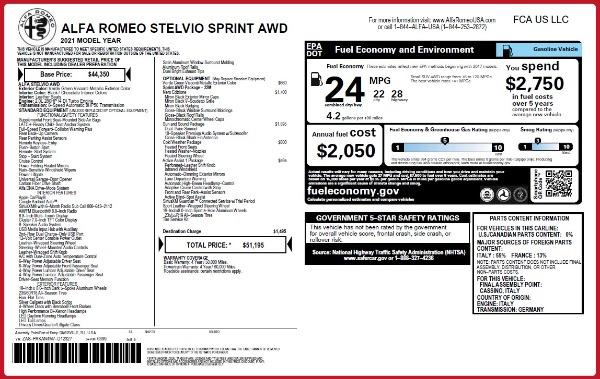 New 2021 Alfa Romeo Stelvio Q4 for sale $51,195 at Pagani of Greenwich in Greenwich CT 06830 2