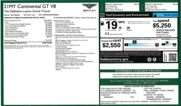 Used 2021 Bentley Continental GT V8 for sale Sold at Pagani of Greenwich in Greenwich CT 06830 27