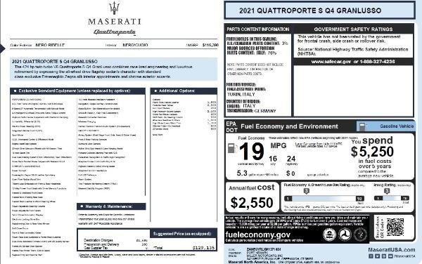 New 2021 Maserati Quattroporte S Q4 GranLusso for sale $129,135 at Pagani of Greenwich in Greenwich CT 06830 27