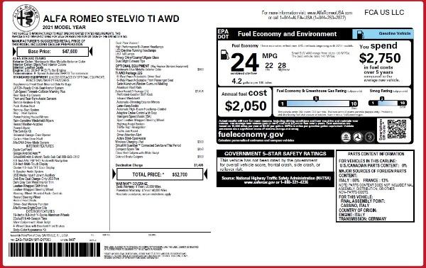 New 2021 Alfa Romeo Stelvio Ti Q4 for sale Sold at Pagani of Greenwich in Greenwich CT 06830 2