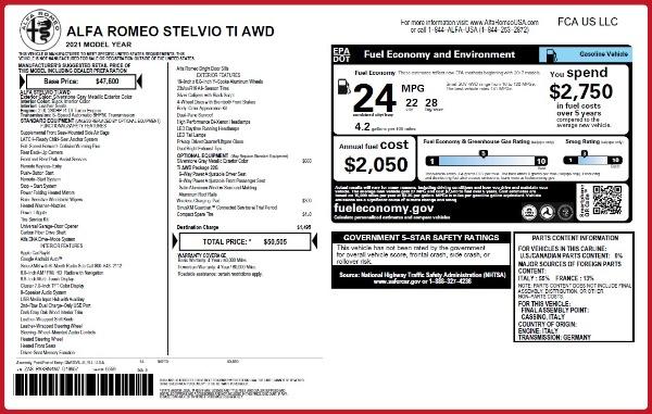 New 2021 Alfa Romeo Stelvio Ti Q4 for sale Sold at Pagani of Greenwich in Greenwich CT 06830 20