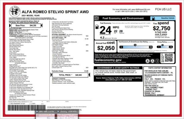 New 2021 Alfa Romeo Stelvio Q4 for sale Sold at Pagani of Greenwich in Greenwich CT 06830 21